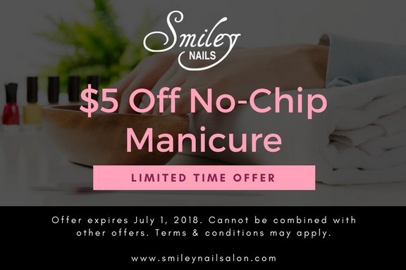 $5 off Smiley Nails in Mt Prospect